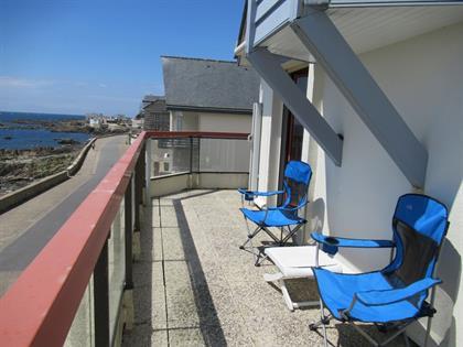 T2 face mer à Batz sur Mer avec superbe terrasse