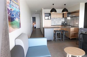 Appartement 2/4 pers en rez-de jardin, Vue Mer, dans résidence de standing avec accès direct à la plage