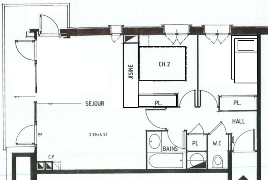 appartement 3 pi ces 4 personnes val d 39 is re. Black Bedroom Furniture Sets. Home Design Ideas